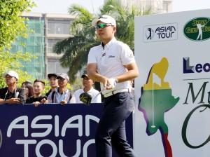 アジアを転戦する川村昌弘。3Rでは#4のイーグル、#6のバーディーで首位に立ったが、最終日に伸びず8位どまり。