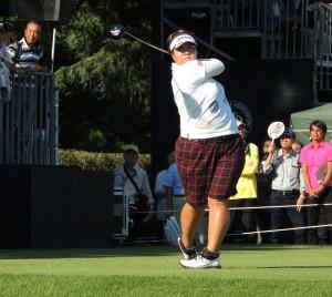 パブリックゴルフ時代は″常勝〝を誇った酒井美紀。10年「全日本女子」の優勝者。「東日本」では06年から3連覇。プロでは14年に2勝した。