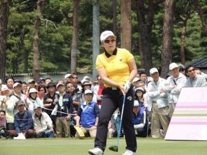 韓国の強豪、申ジエ。ニチレイでは鈴木愛にPOで敗れた。